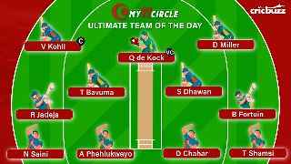 My11Circle Ultimate Team of the Day: India vs South Africa, 2nd T20I